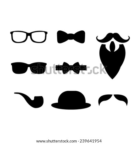 set of hipster elements  - stock vector