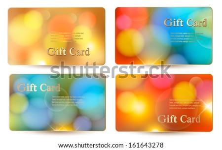 Set of holiday colorful abstract gift cards. Vector illustration  - stock vector