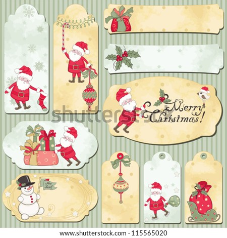 Set of holidays vector cards with place for your text - stock vector