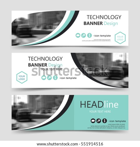 Set Horizontal Banner Templates Vector Corporate Stock Vector ...