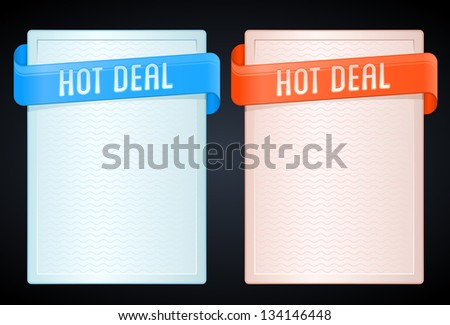 set of hot deal banners