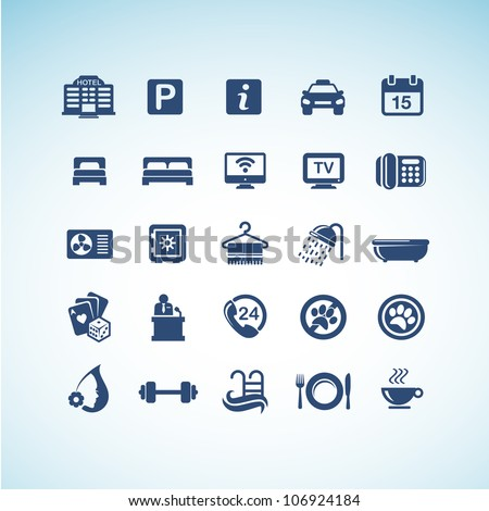 Set of hotel icons - stock vector
