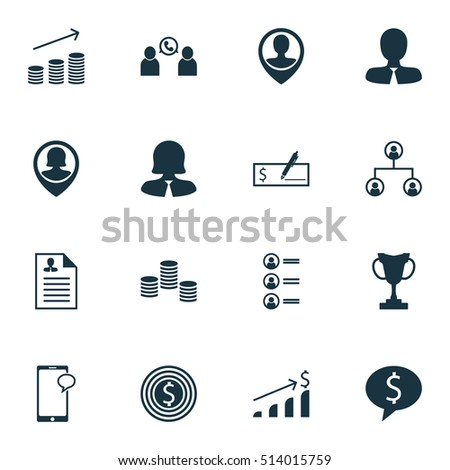 Set hr icons on business deal stock vector royalty free 514015759 set of hr icons on business deal manager and messaging topics editable vector illustration thecheapjerseys Images
