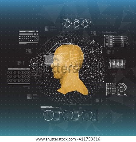 Set HUD Elements Virtual Reality Futuristic Stock Vector HD (Royalty ...