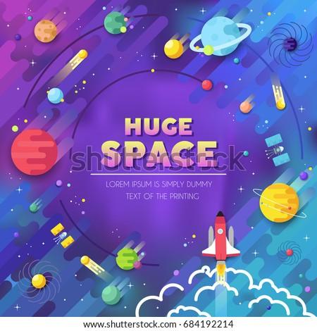 set huge universe infographic illustration outer stock vector 391023283 shutterstock. Black Bedroom Furniture Sets. Home Design Ideas