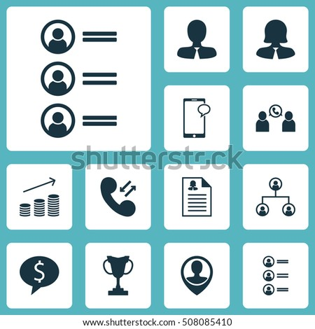 Set Of Human Resources Icons On Coins Growth, Female Application And Job Applicants Topics. Editable Vector Illustration. Includes Chat, User, Resume And More Vector Icons.