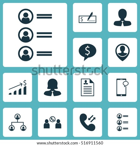 Set Of Human Resources Icons On Phone Conference, Curriculum Vitae And Manager Topics. Editable Vector Illustration. Includes User, Conference, Chat And More Vector Icons.