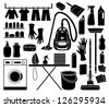 Set of icon cleaning. vector - stock vector