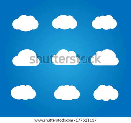 Set of icon clouds vector