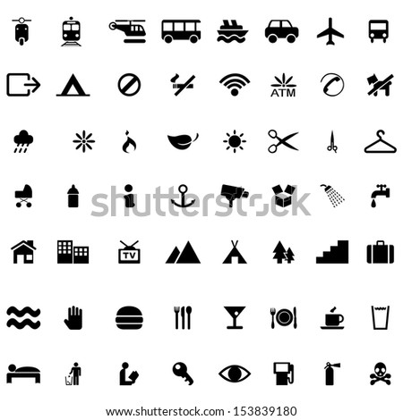 Set of icon vector on white background