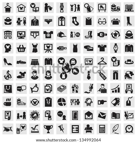 Set of icons. clothing - stock vector