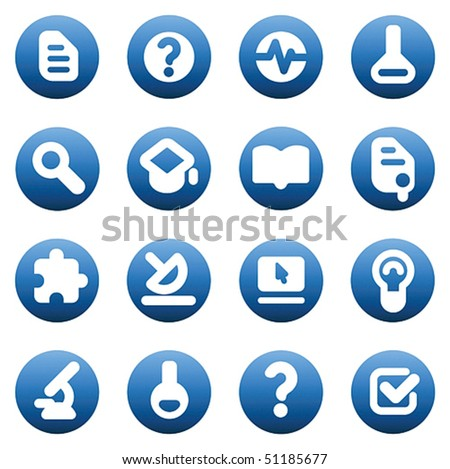 Set of icons for science and education. Vector illustration.