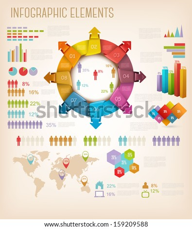 Set of Info graphics elements. Vector illustration  - stock vector