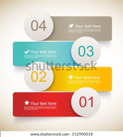 Set of infographic banners - stock vector