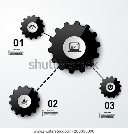 Set of infographic, buttons for websites - stock vector
