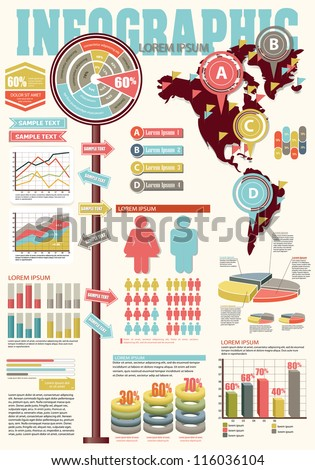 Set of Infographic Elements. - stock vector