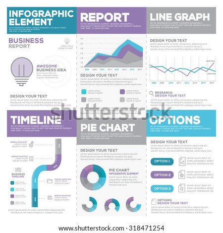 Set of infographic Presentation Template , Infographic Element , Business flyer, corporate report, presentation, Marketing , Layout design , Modern flat business Style , Vector design illustration