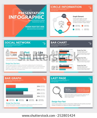 Set of infographic Presentation Template , Infographic Element , Business infographic , Layout design , Modern Style , Vector design illustration  - stock vector
