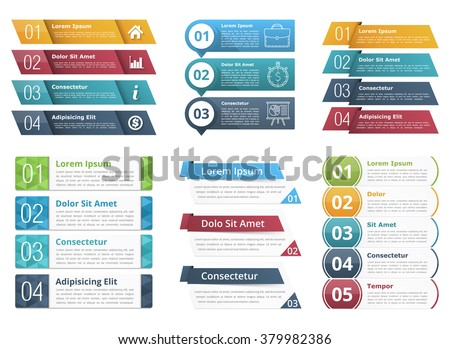 Set infographic templates numbers text business stock vector 2018 set of infographic templates with numbers and text business infographics elements set vector eps10 cheaphphosting Choice Image