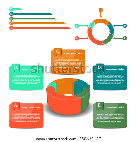 Set of infographics elements. EPS10.