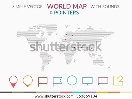 Stock images royalty free images vectors shutterstock set of infographics elements world map and pointers arrow and flags vector illustration gumiabroncs Image collections