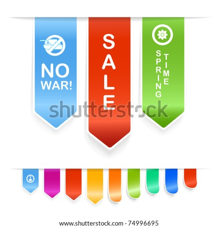 Set of information stickers - stock vector
