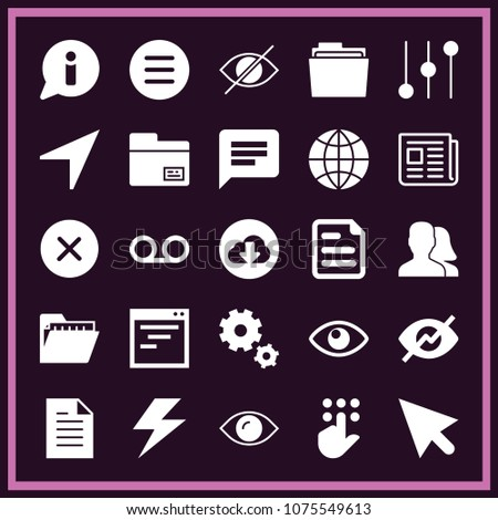 set 25 interface filled icons such stock vector 1075549613