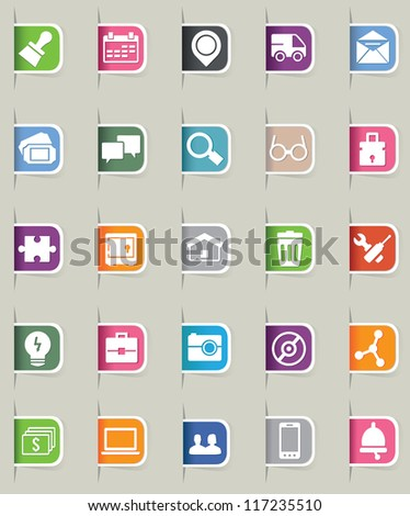Set of internet bookmark - part 2 - vector icons - stock vector