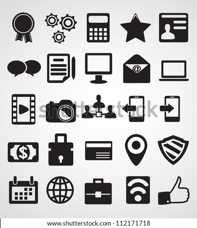 Set of Internet icons - part 1 - vector icons - stock vector