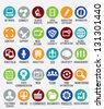 Set of internet services icons - vector icons - stock photo