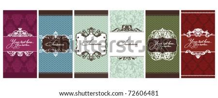 set of invitation cards vector illustration - stock vector