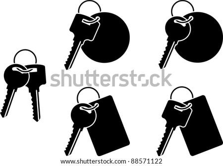 set of keys. fifth variant. vector illustration - stock vector