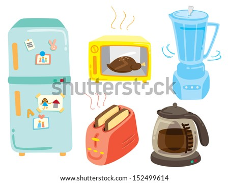 set of kitchen equipment icon - stock vector