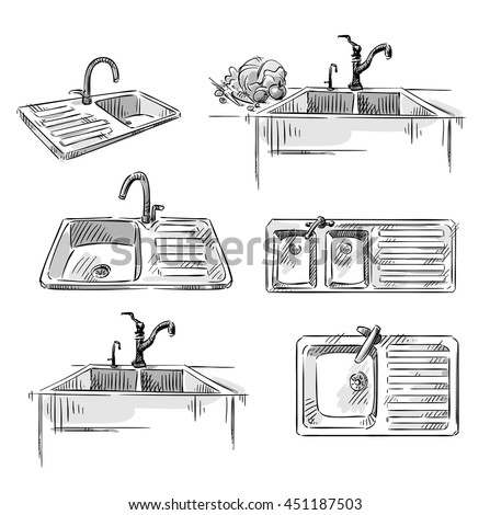 Kitchen Sink Isolated Stock Images, Royalty-Free Images & Vectors ...