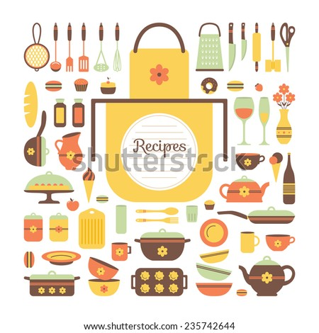 Kitchen Utensils Background seamless pattern kitchen utensils food stock vector 219425815