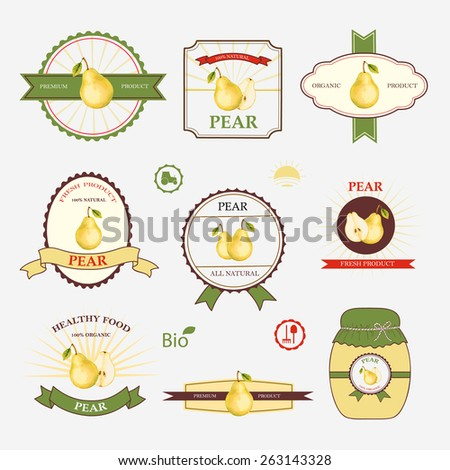 Set Of Label Design And Templates, Vector Illustration.  Label Design Templates