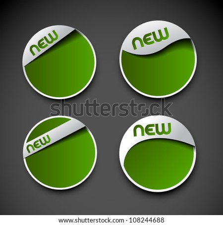 Set of label element. Illustration for vector design. - stock vector