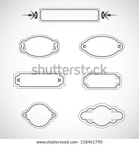 Set of labels and calligraphic design elements, ornament menu - stock vector