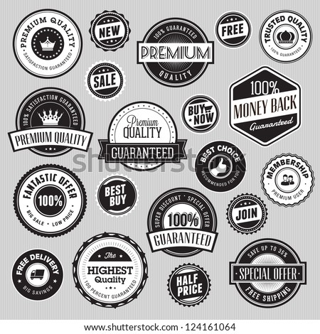 Set of labels and stickers for sale - stock vector
