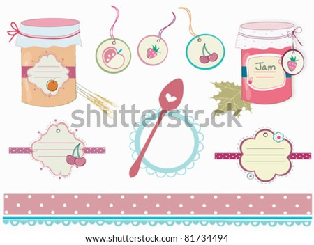 set of labels for jam - stock vector