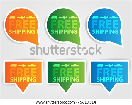 Set of labels - free shipping
