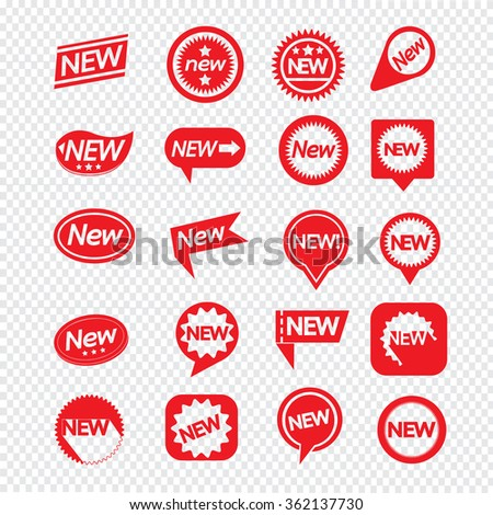 Set of labels New Icon for website and communication - stock vector