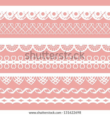 set of laces for scrapbooks - stock vector