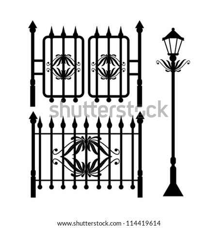 Photos Wrought Iron Fence Isolated 94676092 on electric fence gate