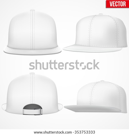 Set Layout Male White Rap Cap Stock-Vektorgrafik 353753333 ...