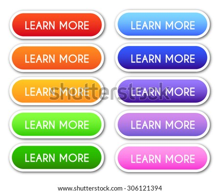 Set of 'Learn More' Buttons - stock vector