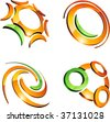Set of letter 3d vector icons such logos. - stock vector
