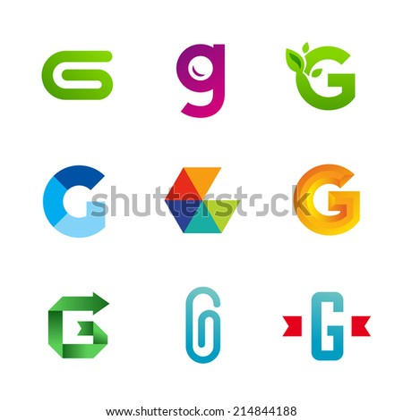 Set of letter G logo icons design template elements. Collection of vector signs. - stock vector