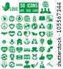 set of life eco love icons - vector icons - stock vector