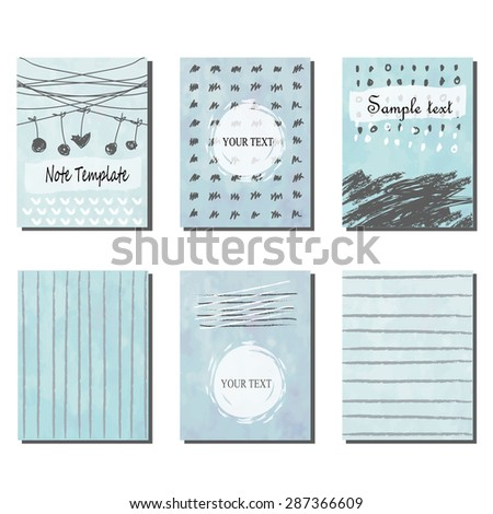 Set light blue geometric invitation card stock vector 287366609 set of light blue geometric invitation card vintage and hipster style for summer wedding with heart stopboris Choice Image
